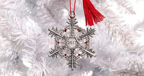 2017 Collector Snowflake Pewter Ornament