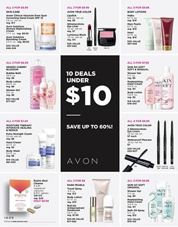 Avon Campaign 25, 2018 Deals Under $10 Brochure