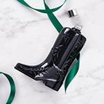 Black Suede Boot Decanter