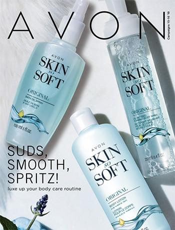 Avon Campaign 16, 2019 Suds, Smooth, Spritz Brochure