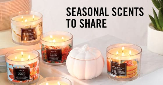 Avon Seasonal Scented Candles To Share