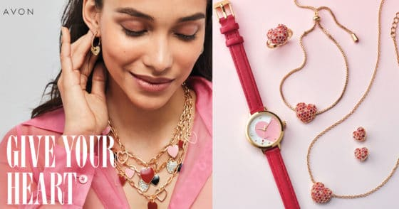 Give Your Heart – Avon Valentine Jewelry