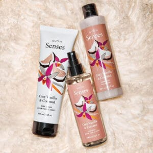 Avon Senses Cozy Vanilla & Coconut