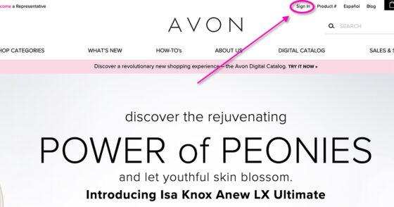 Go to My Avon Online Store