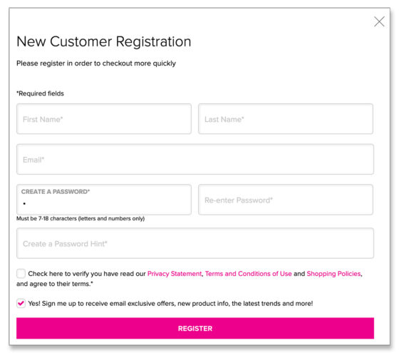 Avon New Customer Registration