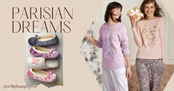 Avon Parisian Dreams Holiday Pajamas And Slippers