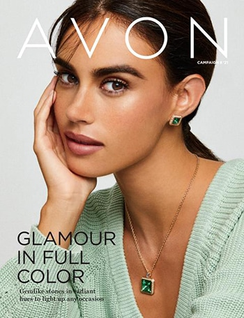 Avon Campaign 08, 2021 Glamour In Full Color Brochure