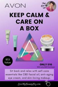 Avon Keep Calm & Care On A Box