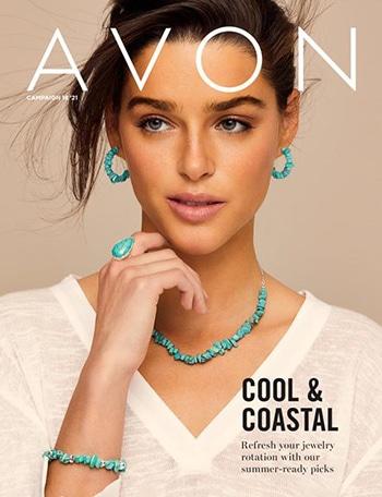 Avon Campaign 18, 2021 Cool & Coastal Brochure